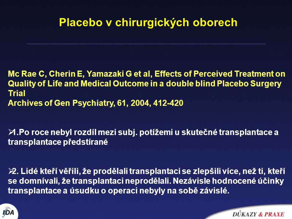 Placebo v chirurgických oborech