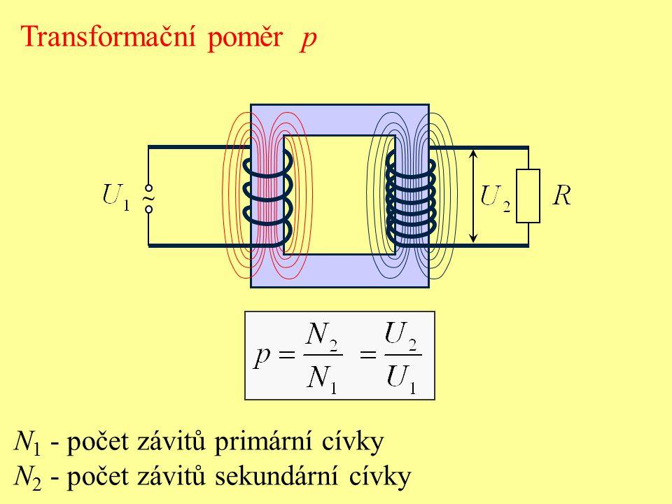 Transformační poměr p N1 - počet závitů primární cívky