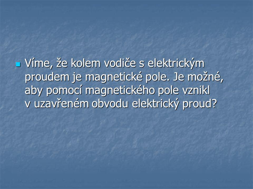 Víme, že kolem vodiče s elektrickým proudem je magnetické pole
