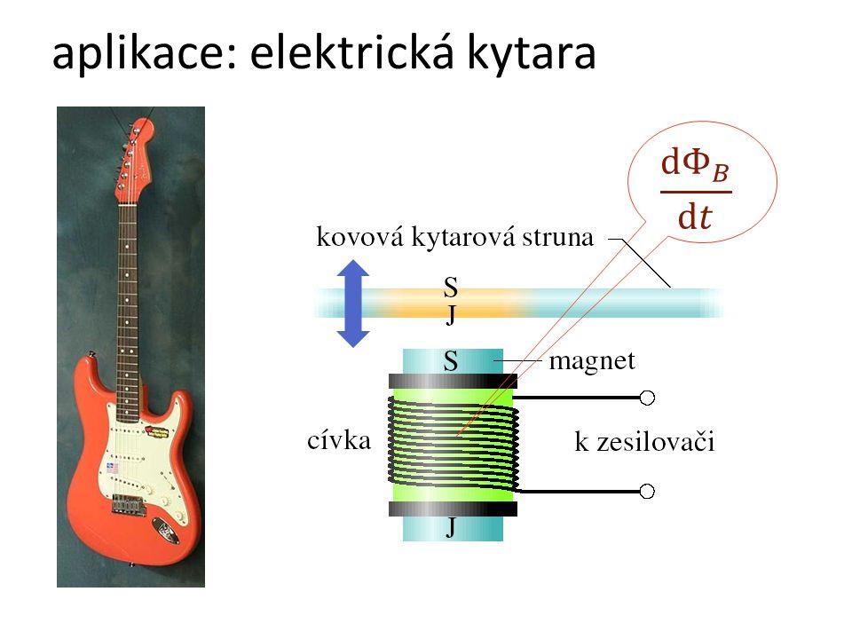 aplikace: elektrická kytara