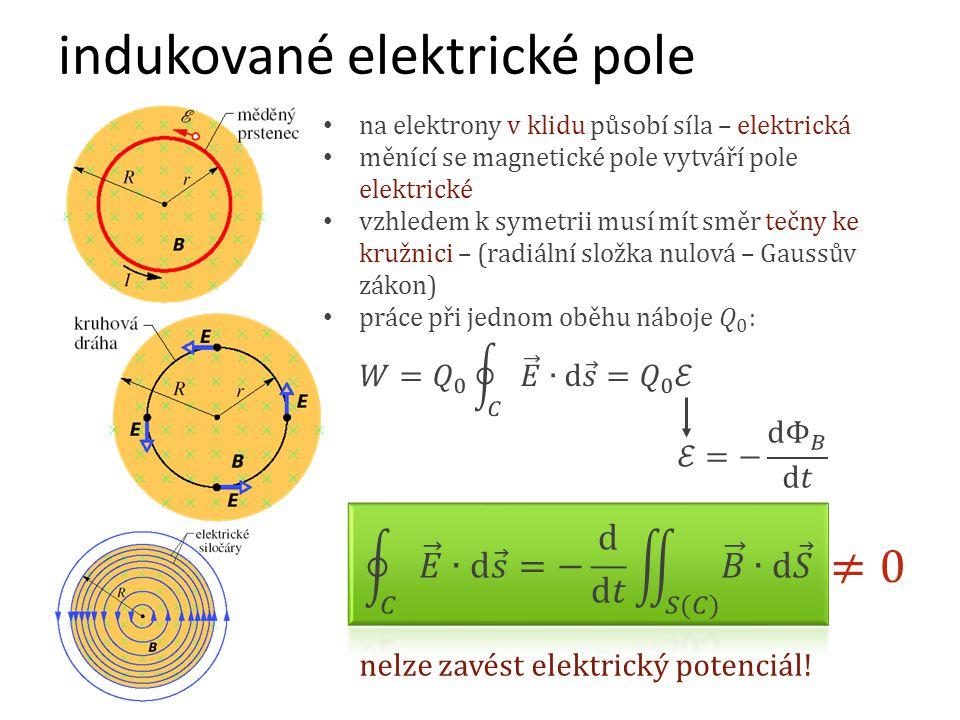 indukované elektrické pole