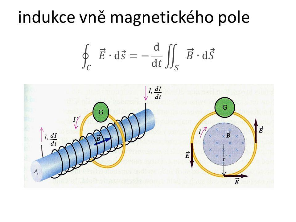 indukce vně magnetického pole