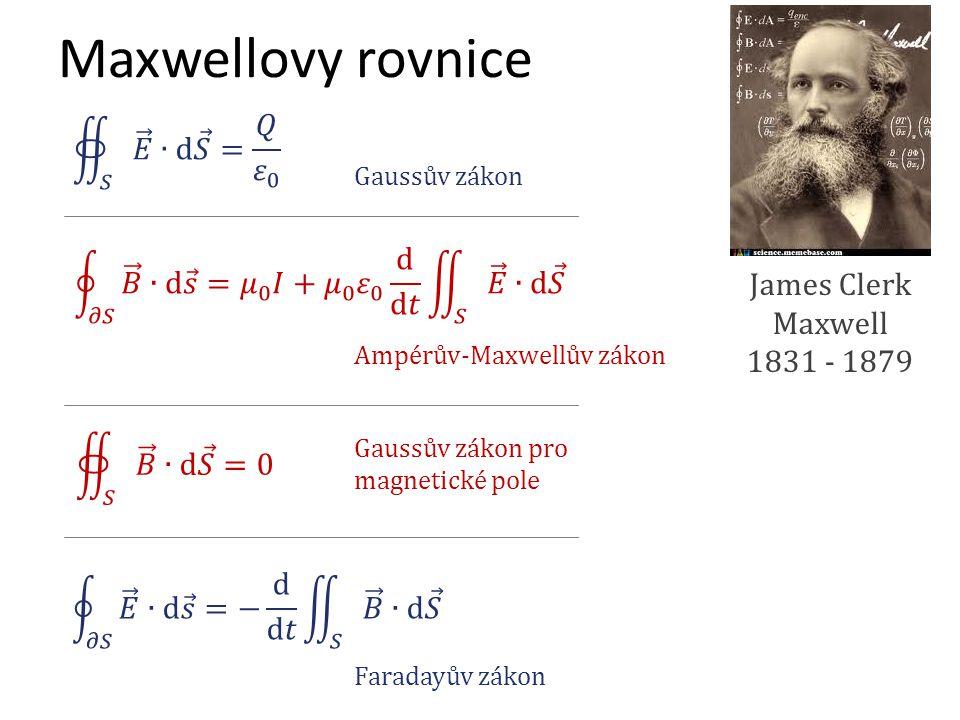 Maxwellovy rovnice 𝑆 𝐸 ∙d 𝑆 = 𝑄 𝜀 0