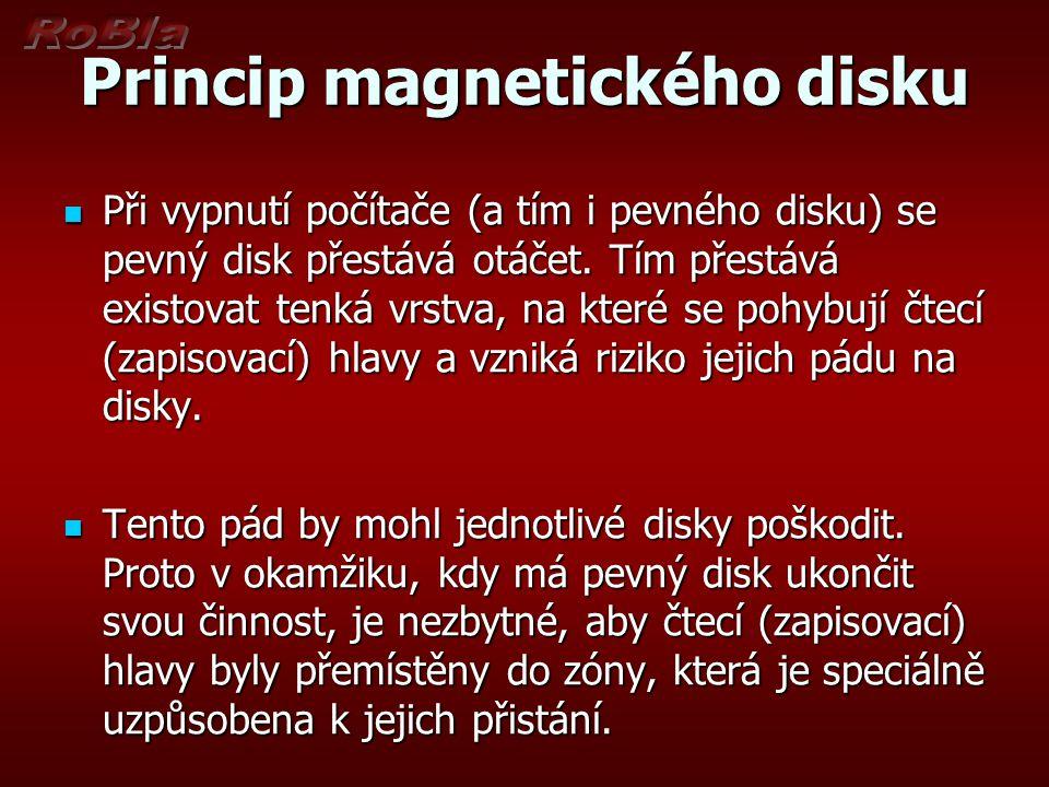 Princip magnetického disku