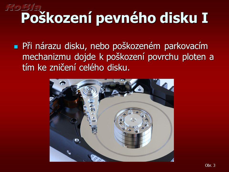 Poškození pevného disku I