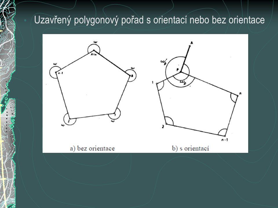 Uzavřený polygonový pořad s orientací nebo bez orientace