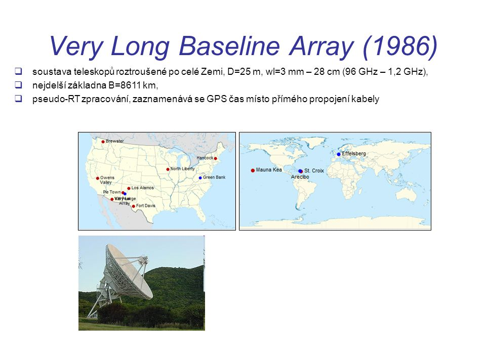Very Long Baseline Array (1986)