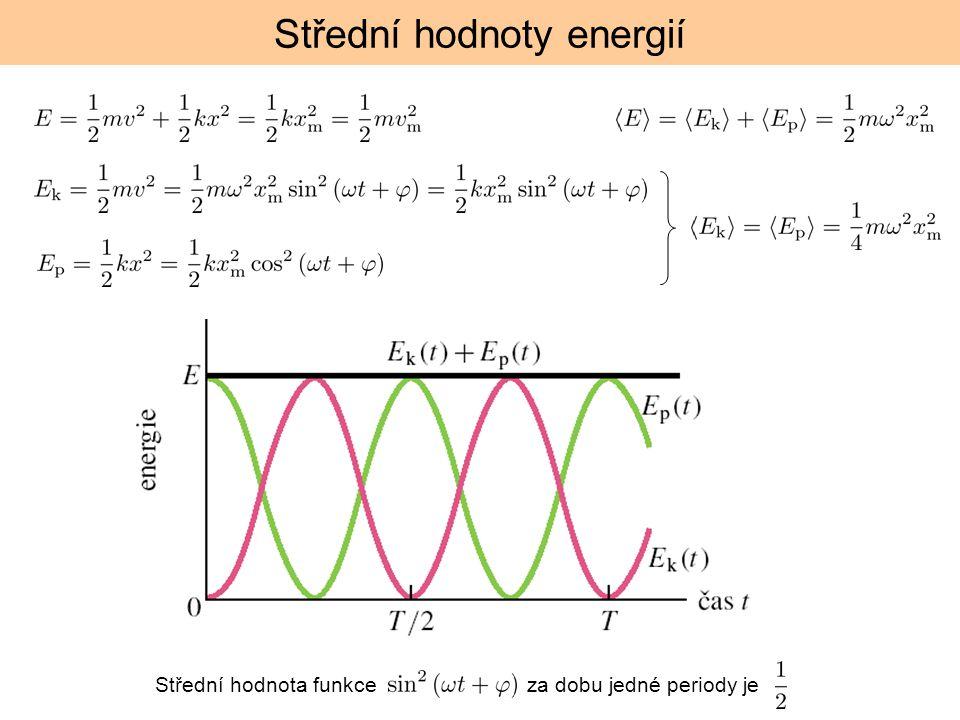 Střední hodnoty energií