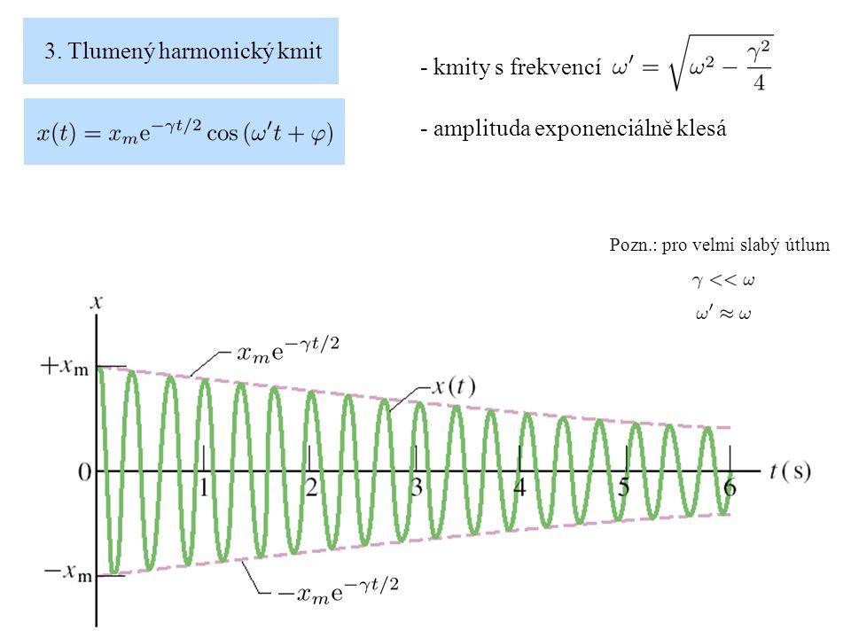3. Tlumený harmonický kmit - kmity s frekvencí