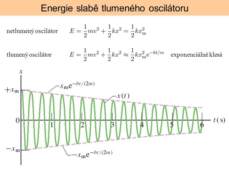 Energie slabě tlumeného oscilátoru