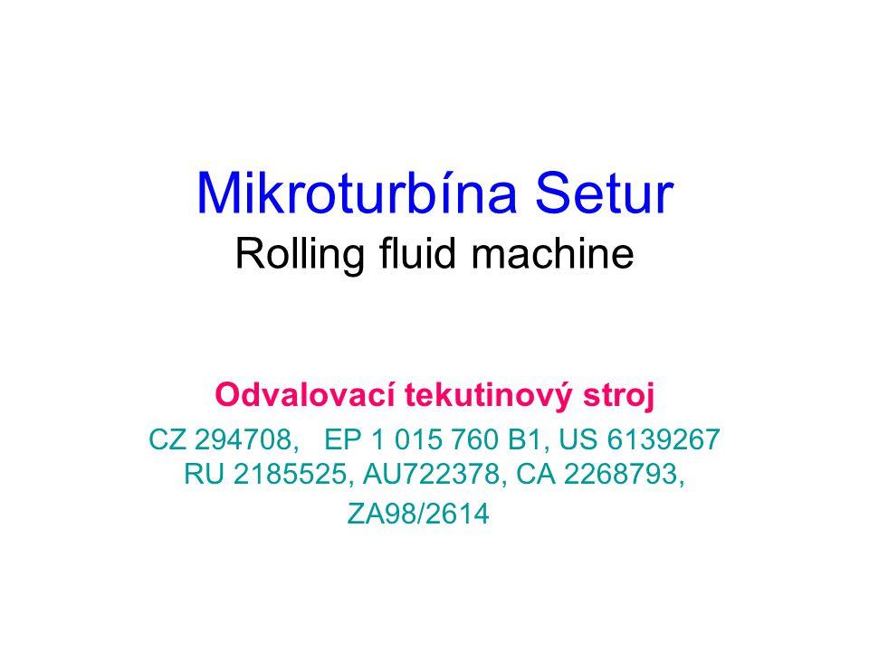 Mikroturbína Setur Rolling fluid machine