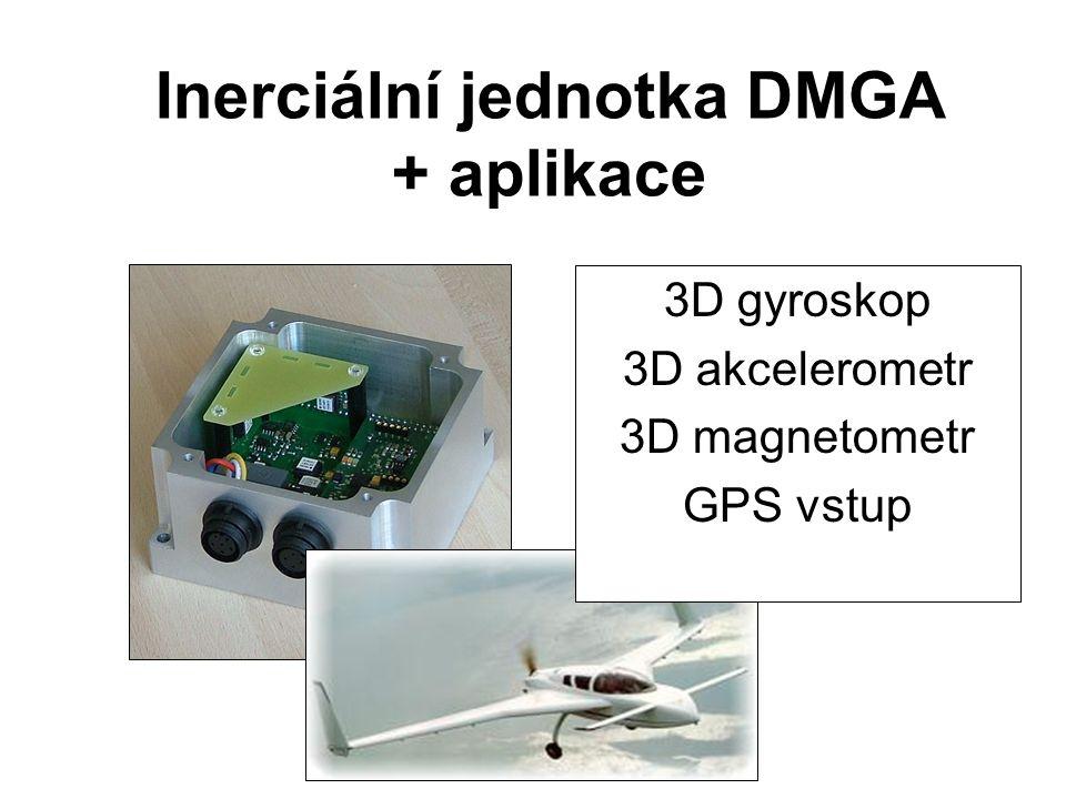Inerciální jednotka DMGA + aplikace