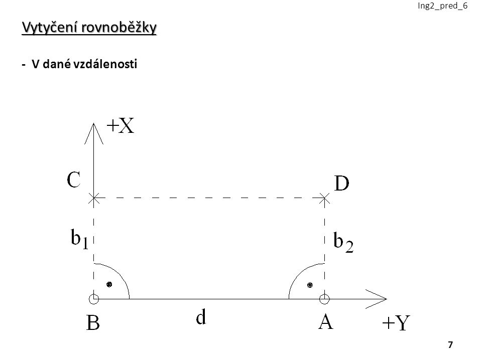 Ing2_pred_6 Vytyčení rovnoběžky - V dané vzdálenosti