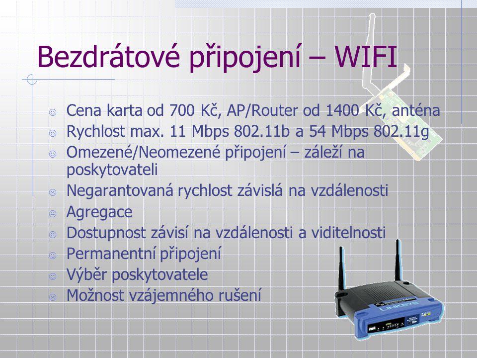 Bezdrátové připojení – WIFI