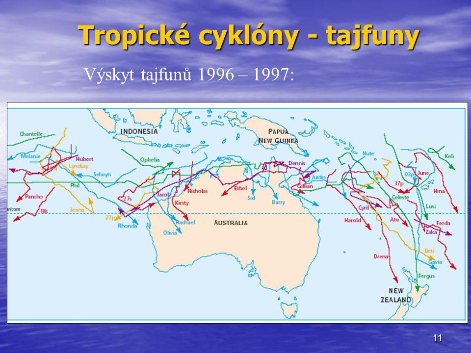 Tropické cyklóny - tajfuny