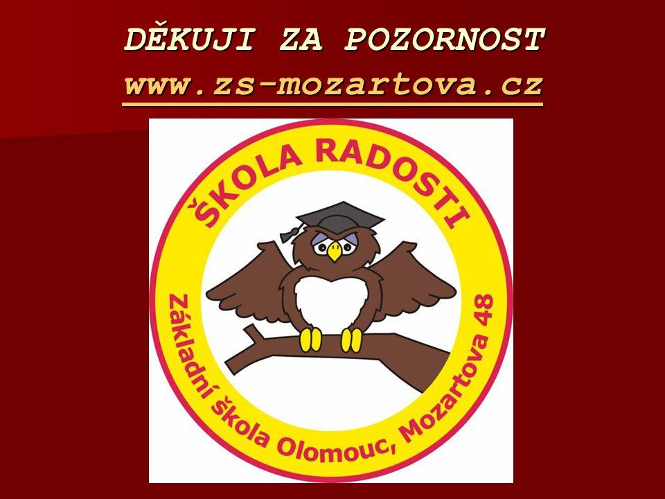 DĚKUJI ZA POZORNOST www.zs-mozartova.cz