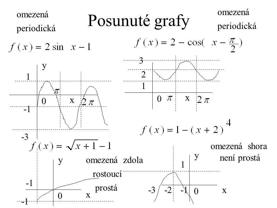 Posunuté grafy omezená omezená periodická periodická 3 y x x 2 1 1 -1