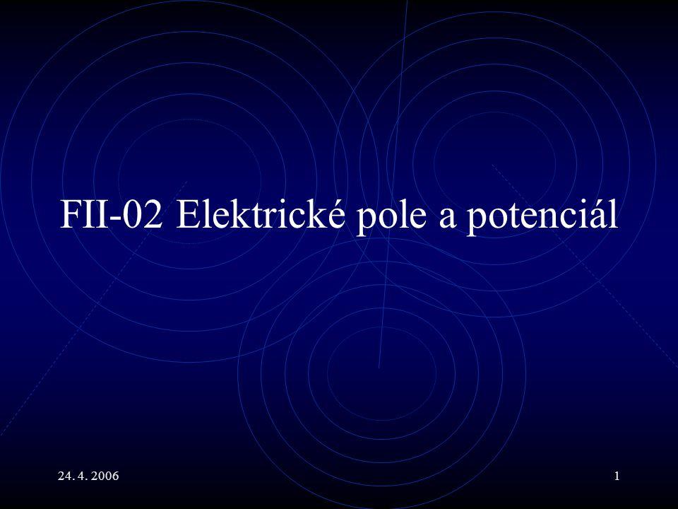 FII-02 Elektrické pole a potenciál
