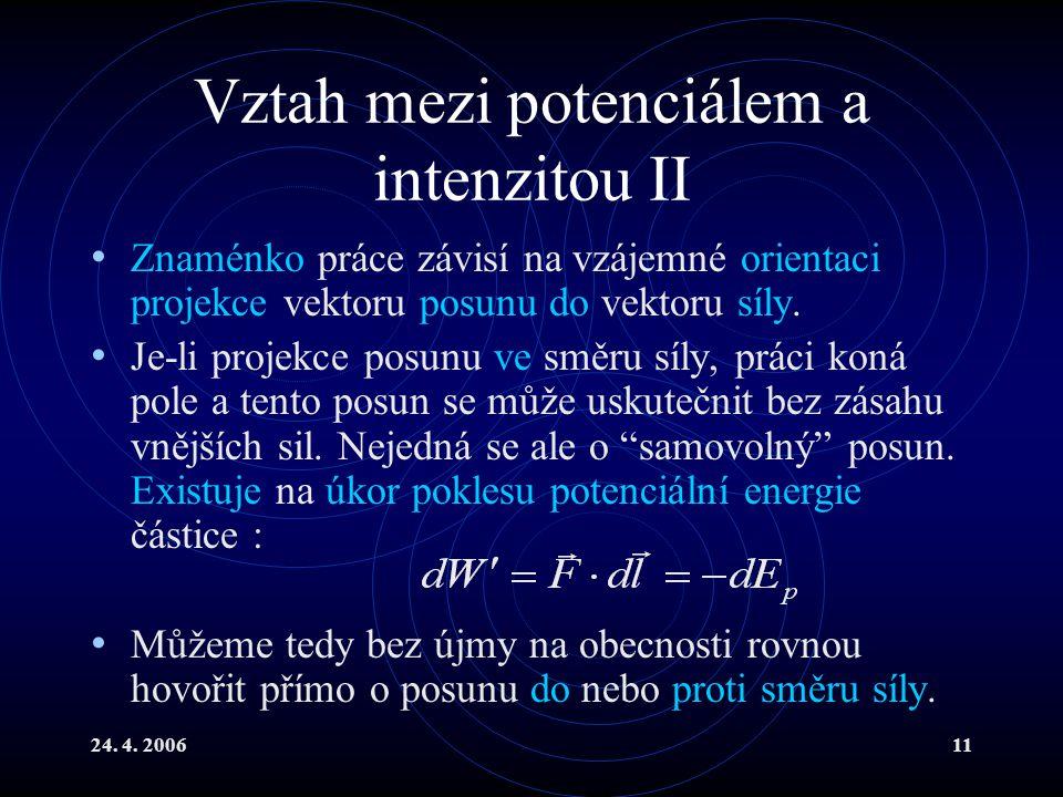 Vztah mezi potenciálem a intenzitou II