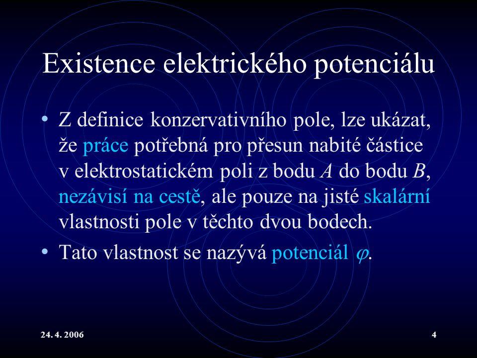 Existence elektrického potenciálu