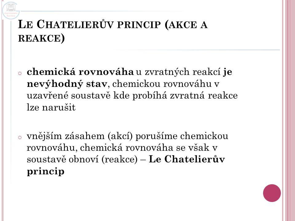 Le Chatelierův princip (akce a reakce)
