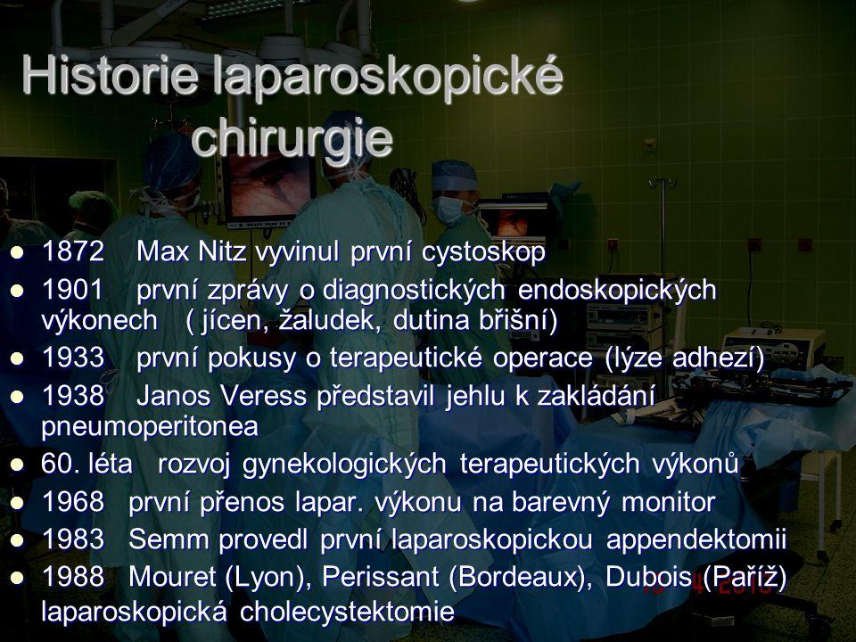 Historie laparoskopické chirurgie