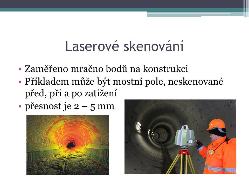 Laserové skenování Zaměřeno mračno bodů na konstrukci