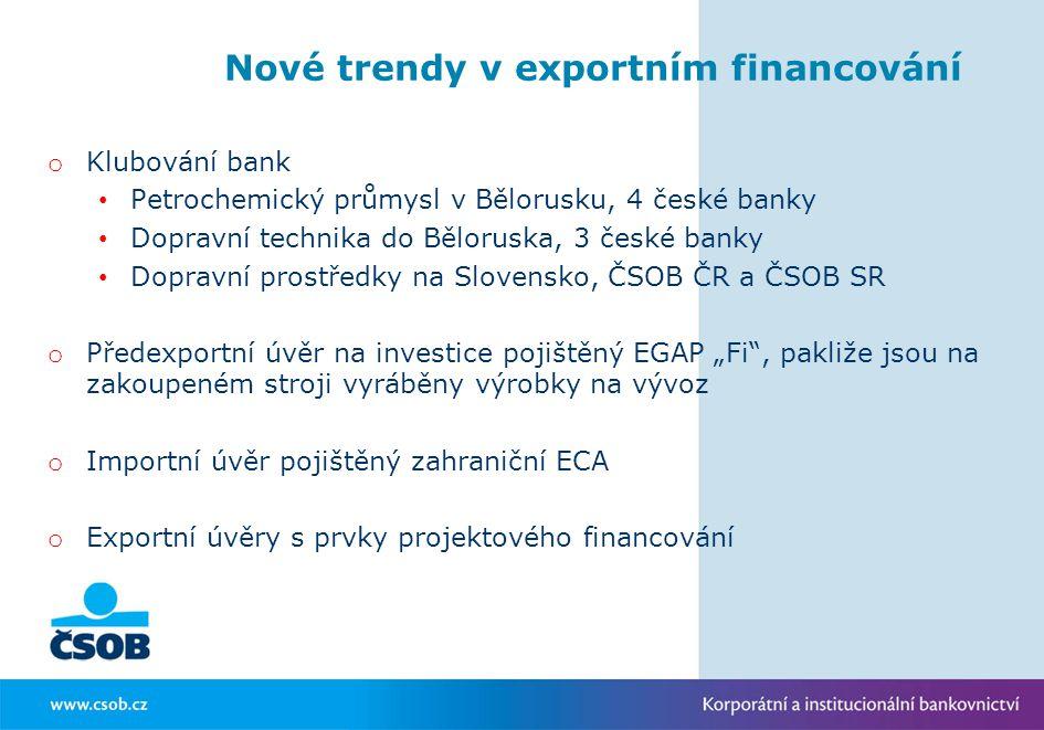 Nové trendy v exportním financování