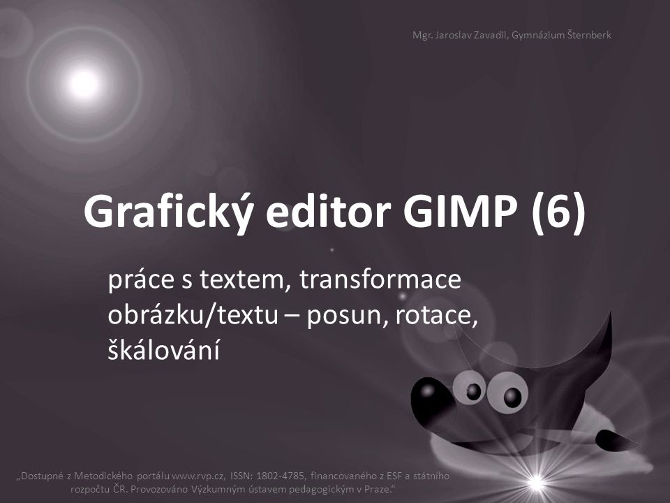 Grafický editor GIMP (6)