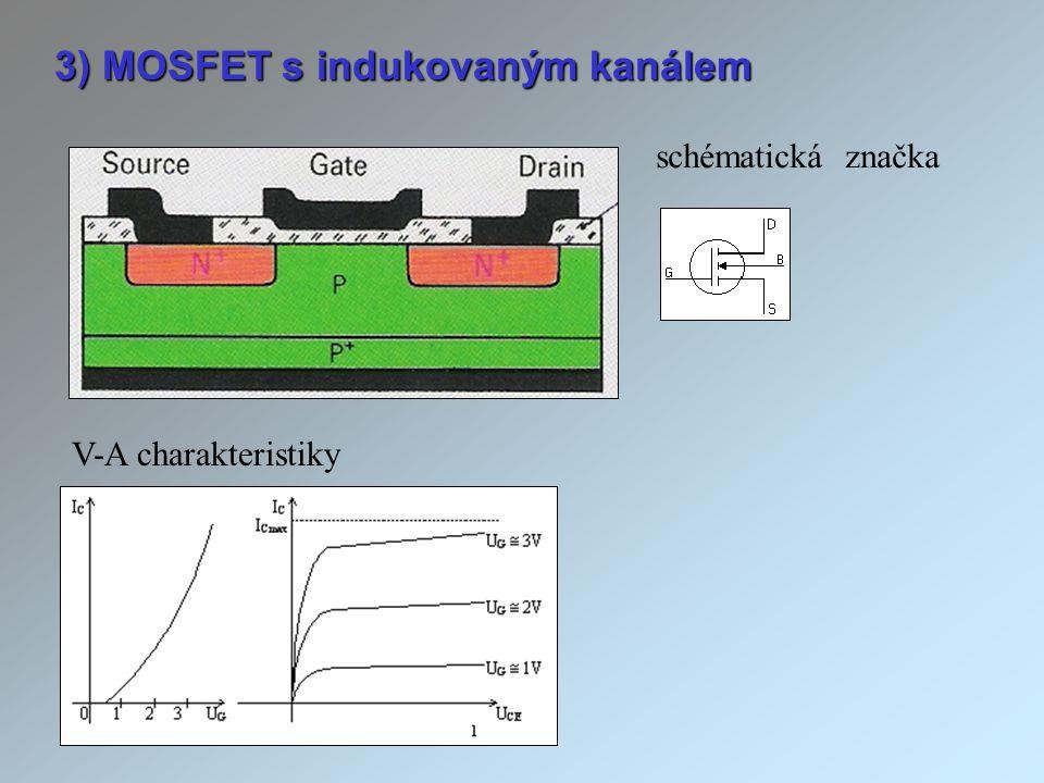 3) MOSFET s indukovaným kanálem