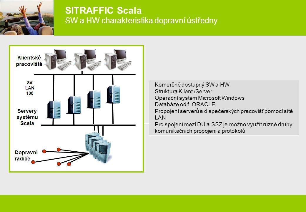 SITRAFFIC Scala SW a HW charakteristika dopravní ústředny