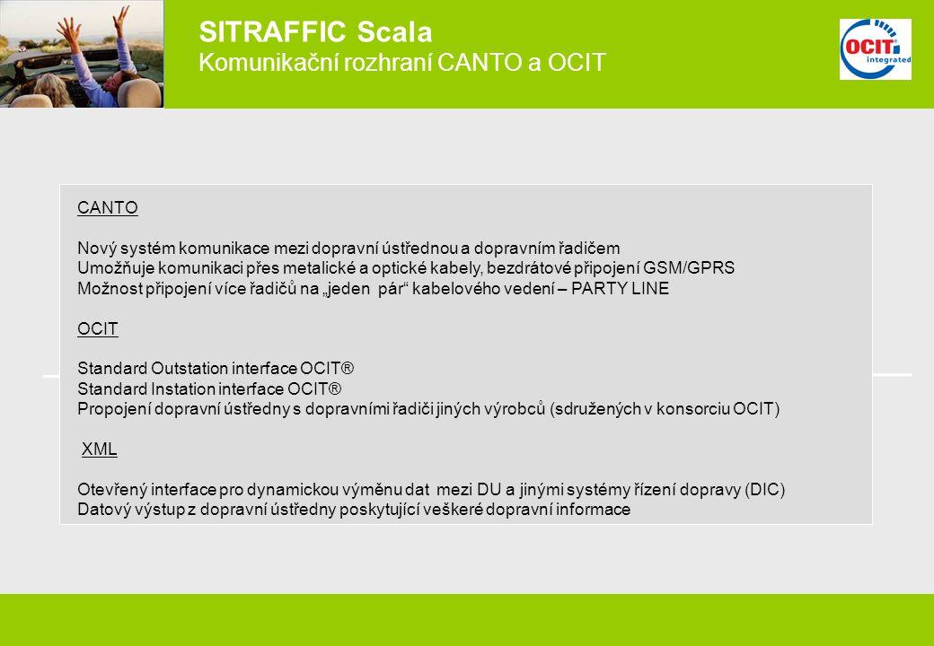 SITRAFFIC Scala Komunikační rozhraní CANTO a OCIT