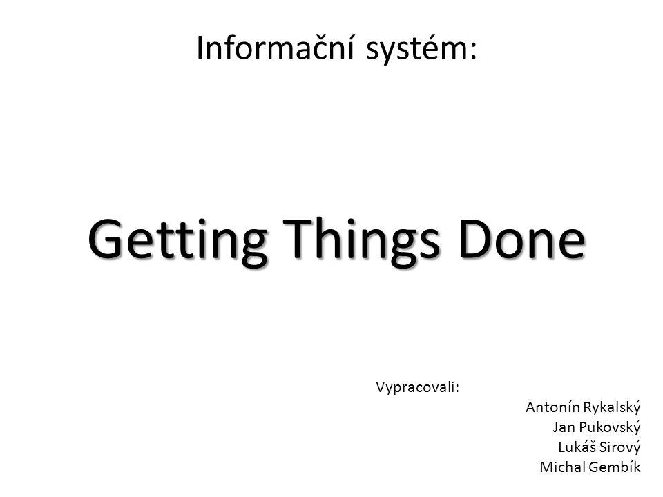 Informační systém: Getting Things Done