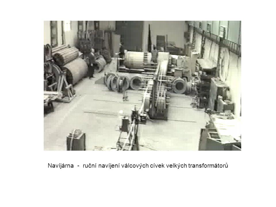 Navíjárna - ruční navíjení válcových cívek velkých transformátorů