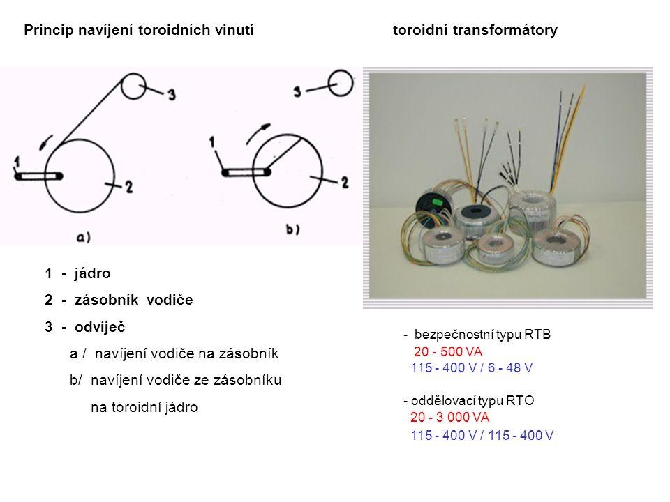 Princip navíjení toroidních vinutí toroidní transformátory