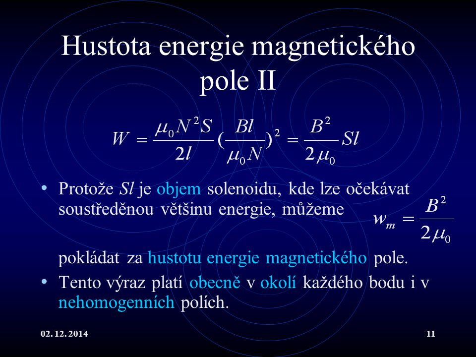 Hustota energie magnetického pole II
