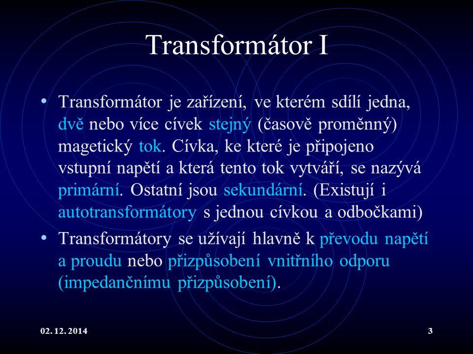 Transformátor I