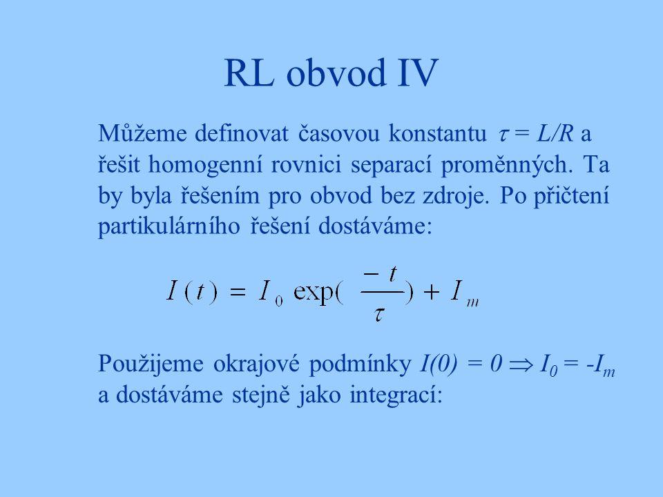 RL obvod IV