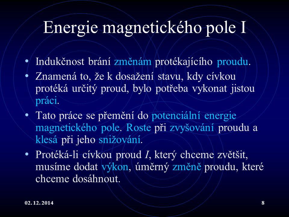 Energie magnetického pole I