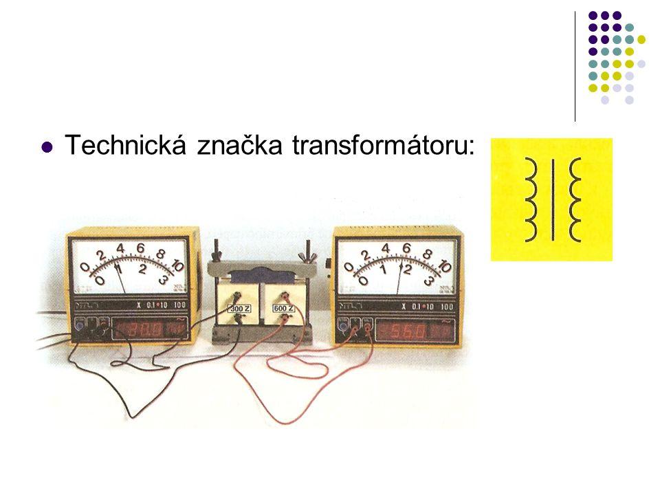 Technická značka transformátoru: