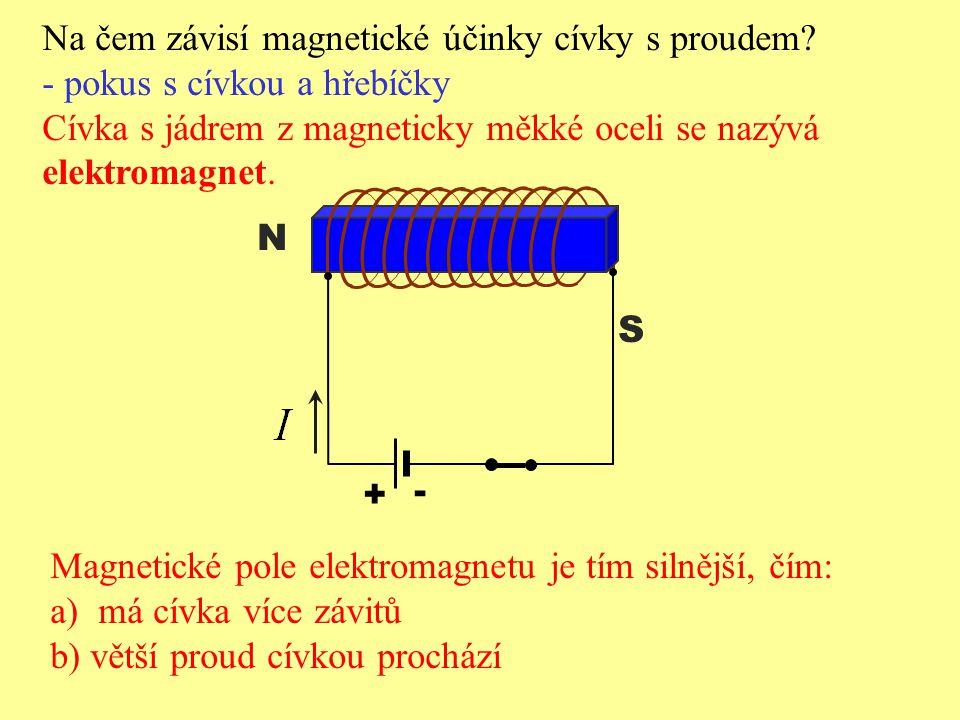 Na čem závisí magnetické účinky cívky s proudem