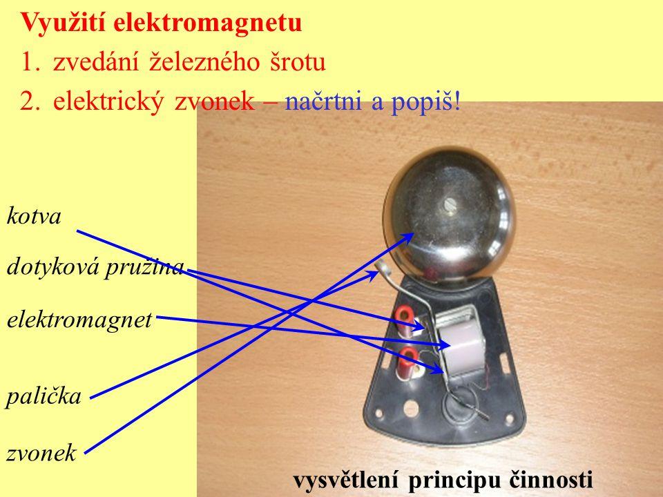 Využití elektromagnetu zvedání železného šrotu