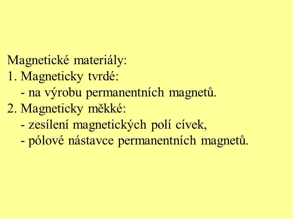 Magnetické materiály: 1. Magneticky tvrdé: