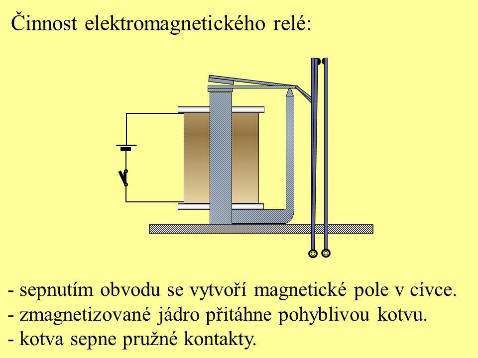 Činnost elektromagnetického relé:
