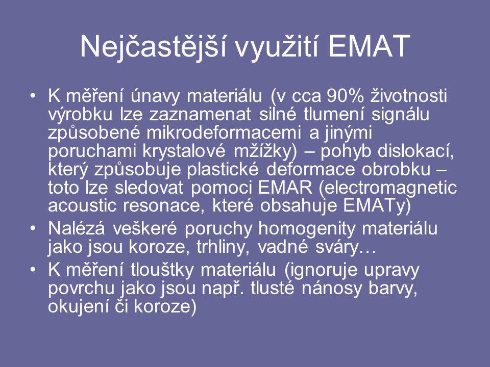 Nejčastější využití EMAT