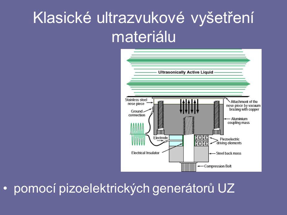 Klasické ultrazvukové vyšetření materiálu