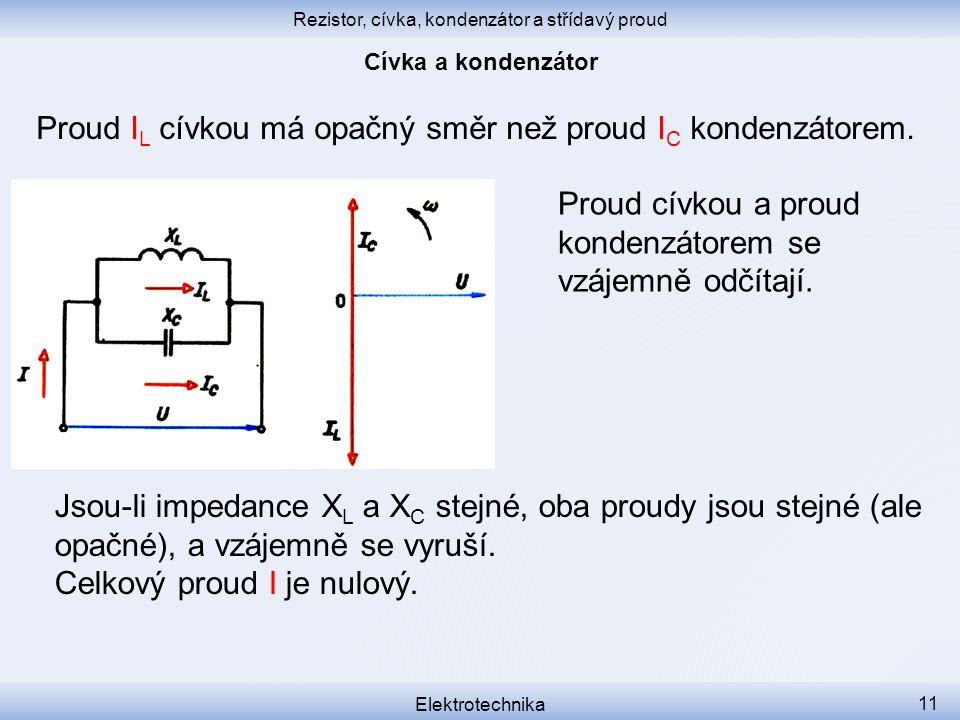 Rezistor, cívka, kondenzátor a střídavý proud