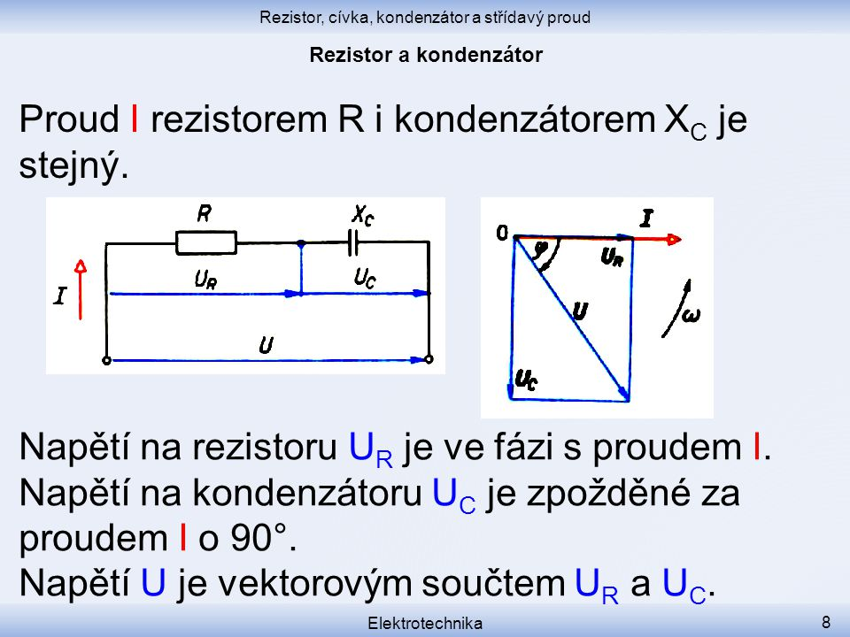 Rezistor a kondenzátor
