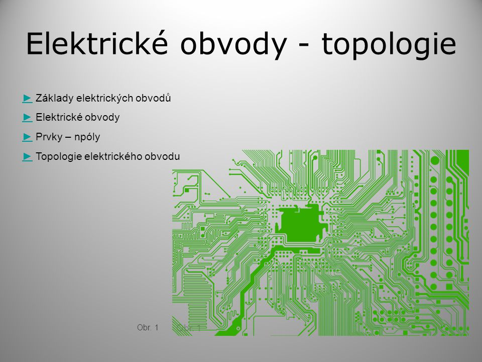 Elektrické obvody - topologie