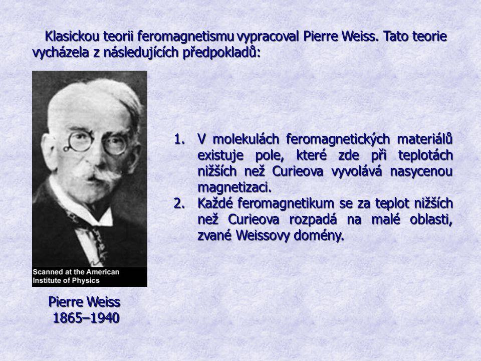 Klasickou teorii feromagnetismu vypracoval Pierre Weiss